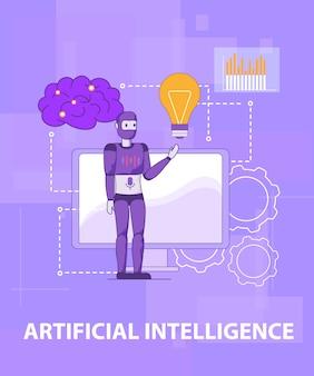 Testen sie die intelligente selbstlernende künstliche intelligenz