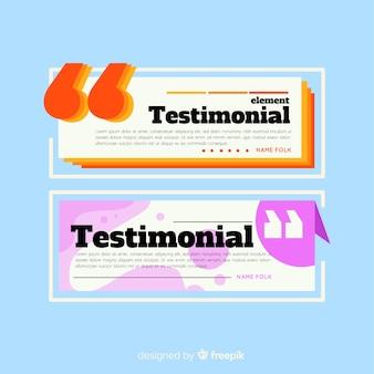 Testimonial design