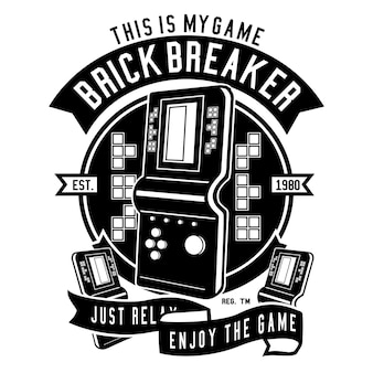 Tetris-spiel-konsolen-illustration