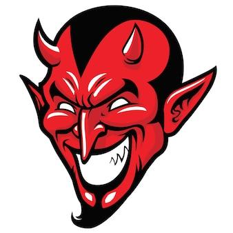 Teufel kopf maskottchen