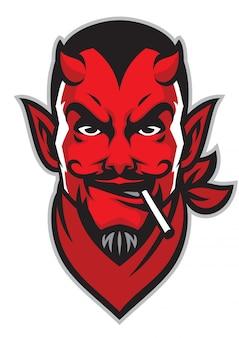 Teufel reiter kopf maskottchen