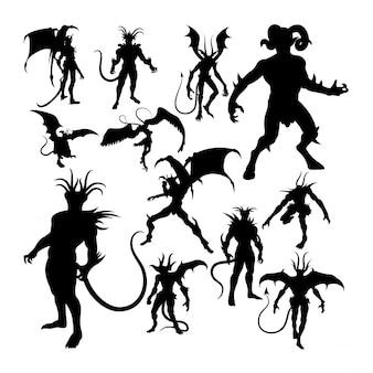 Teufel silhouetten.