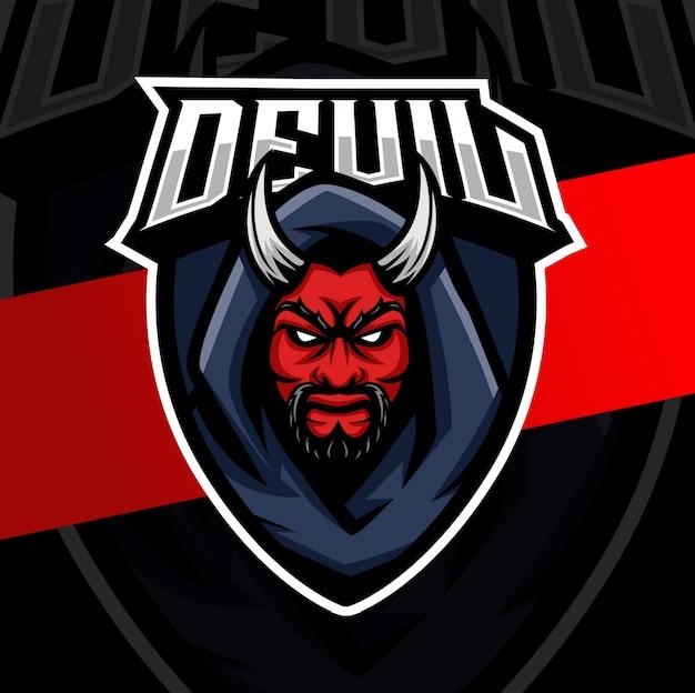 Teufel umhang maskottchen esport logo design