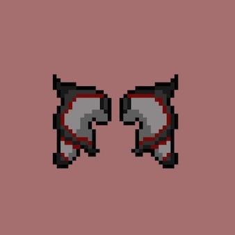 Teufelsflügel mit pixel-art-stil