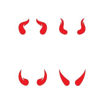 Teufelshorn-logo-vektor-icon-vorlage