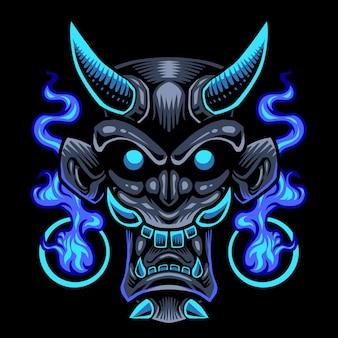Teufelskopf maskottchen logo