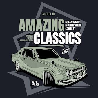 Teurer klassiker, plakat eines klassischen motorrades
