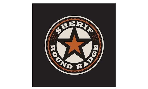 Texas sheriff / cowboy-abzeichen-logo-design