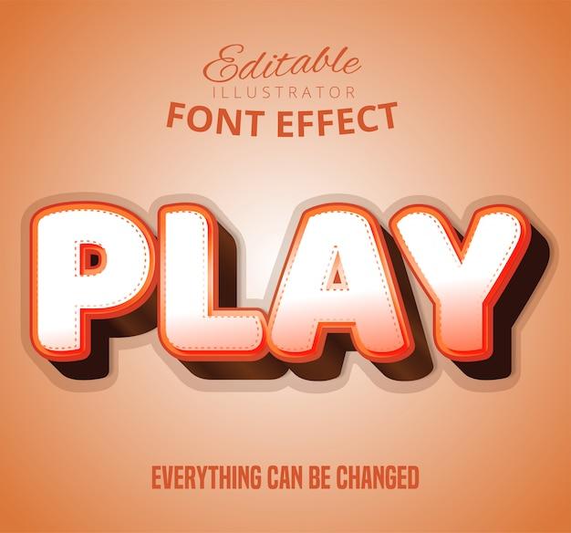 Text abspielen, bearbeitbarer font-effekt