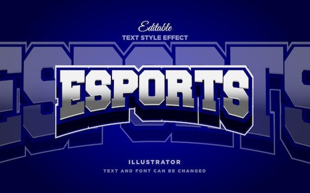 Text-arteffekt esport 3d