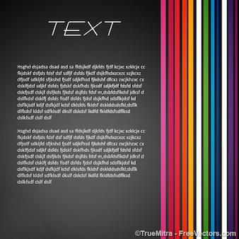 Text-banner farbigen linien vektor