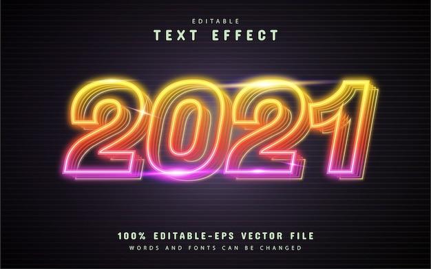 Text, bearbeitbarer bunter neontext-effekt