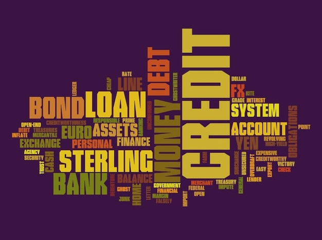 Text collage finanzen grafik