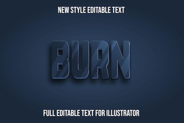 Text effekt 3d brennen farbe dunkelgrau und schwarz farbverlauf