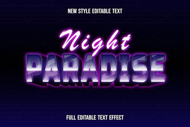 Text effekt 3dnight paradise farbe weiß und rosa farbverlauf