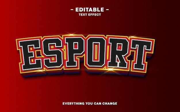 Text effekt bearbeitbar, esport-stil