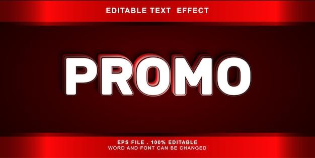 Text effekt bearbeitbare promo