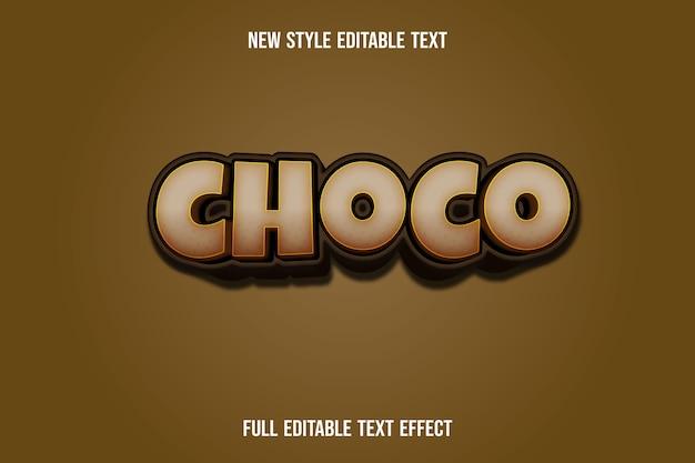 Text effekt choco farbe braun farbverlauf