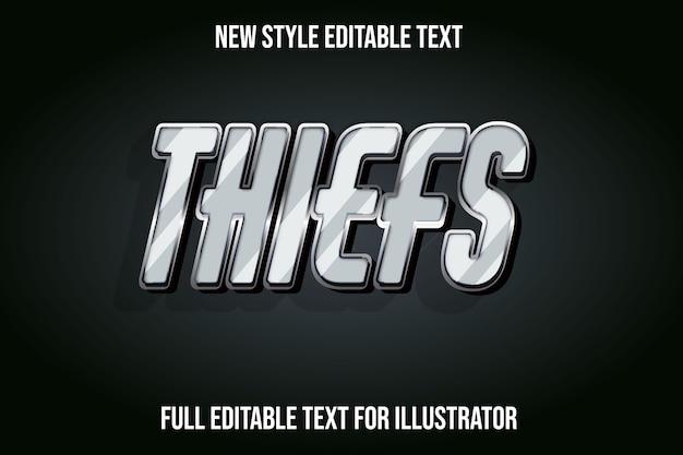 Text effekt dieb farbe grau und schwarz farbverlauf