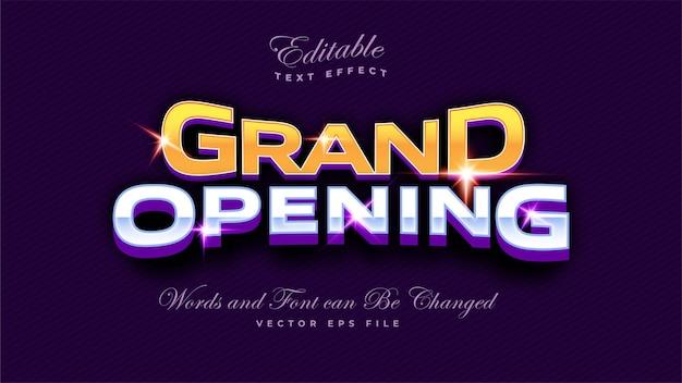 Text-effekt für die eröffnung