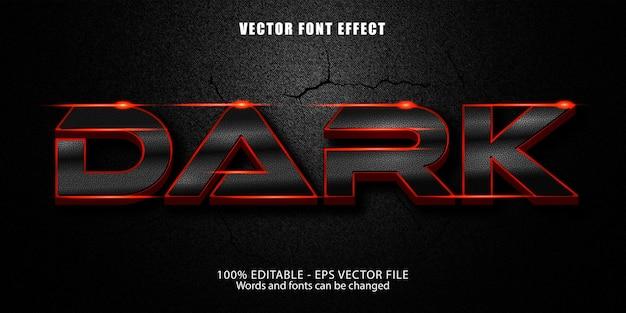Text-effekt im modernen stil dunkel