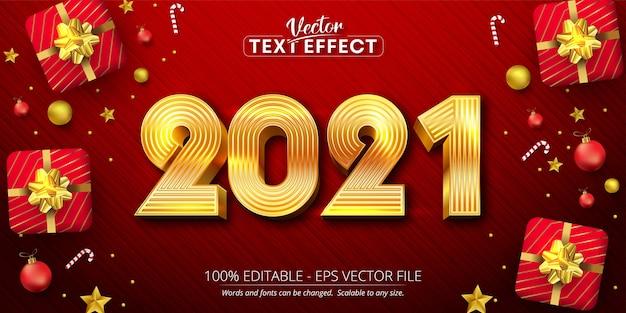 Text, goldene farbe weihnachtsstil bearbeitbaren texteffekt