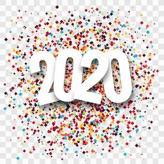 Text-grußkartenschablone des neuen jahres kreative 2020