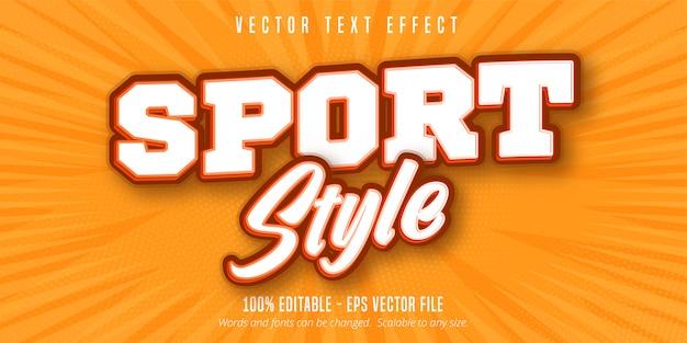 Text im sportstil, bearbeitbarer texteffekt im pop-art-stil