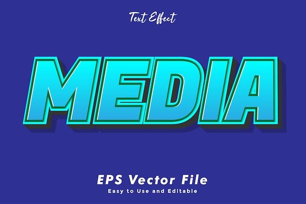 Text-typografie-effektschablone der modernen medien