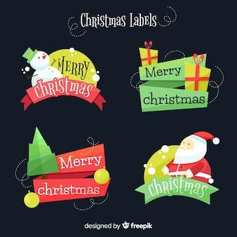 Text weihnachten label pack