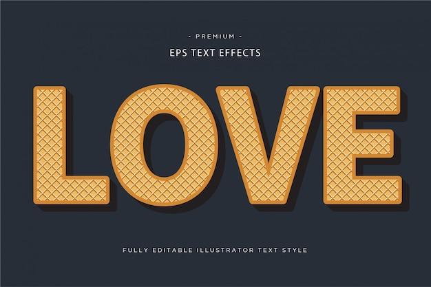 Textart der liebe 3d - effekt des textes 3d