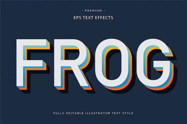 Textart des effektes 3d des textes des frosches 3d