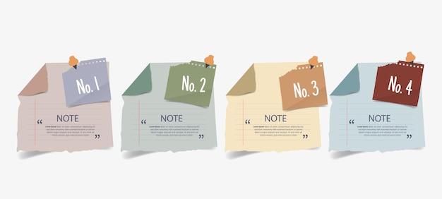 Textbox-design mit briefpapier-vorlage