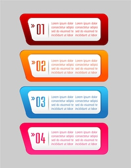 Textboxschablone, fahne infographics
