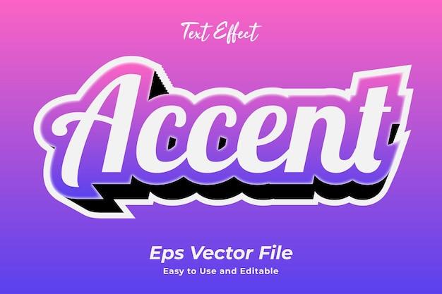 Texteffekt-akzent bearbeitbar und einfach zu verwenden premium-vektor