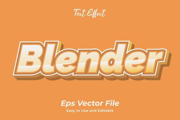 Texteffekt blender einfach zu bedienen und editierbar premium-vektor