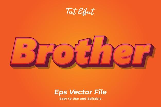Texteffekt brother bearbeitbar und einfach zu verwenden premium-vektor