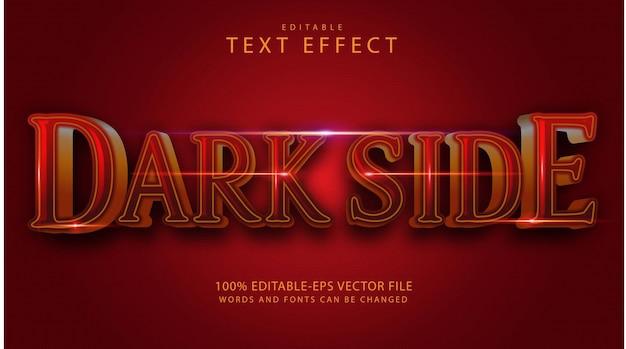 Texteffekt der dunklen seite