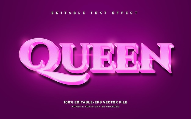 Texteffekt der königin
