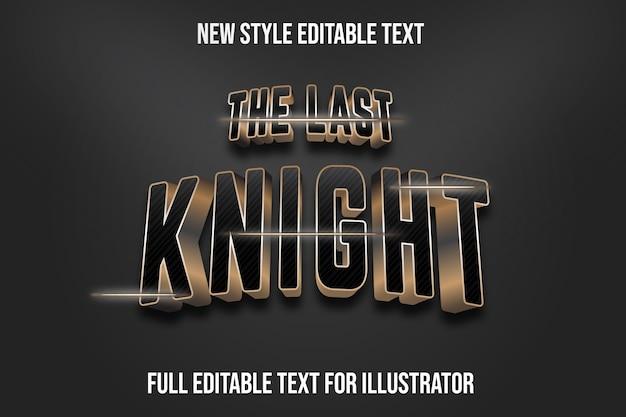 Texteffekt der letzten ritterfarbe schwarz und braun farbverlauf