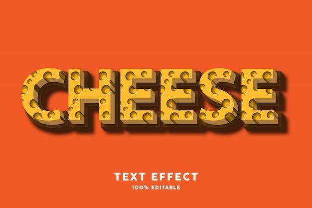 Texteffekt des käses 3d, editable text