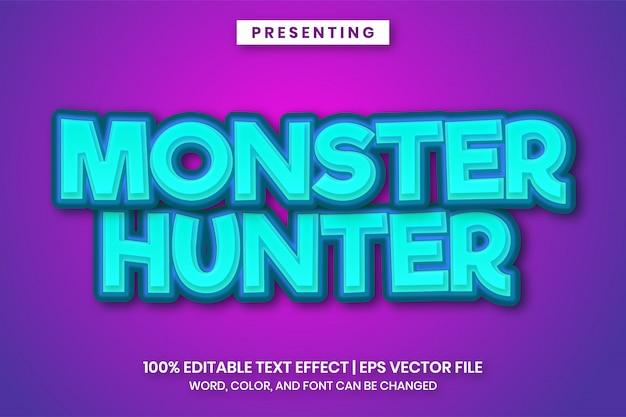 Texteffekt des monsterjägerspieltitels