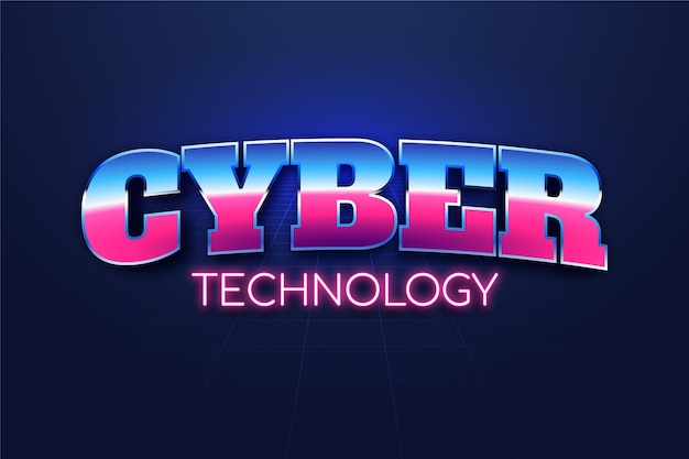 Texteffekt-design der cyber-technologie
