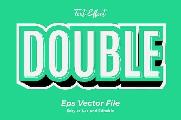 Texteffekt double editierbar und einfach zu bedienen premium-vektor