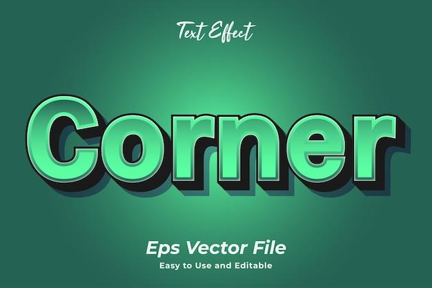 Texteffekt-ecke bearbeitbar und einfach zu verwenden premium-vektor