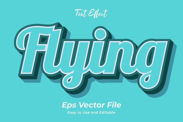 Texteffekt fliegen bearbeitbar und einfach zu verwenden premium-vektor