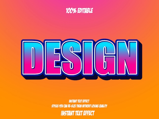 Texteffekt für coolen futuristischen effekt, editierbarer text