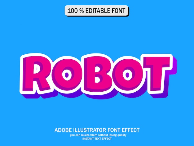Texteffekt für coolen futuristischen effekt