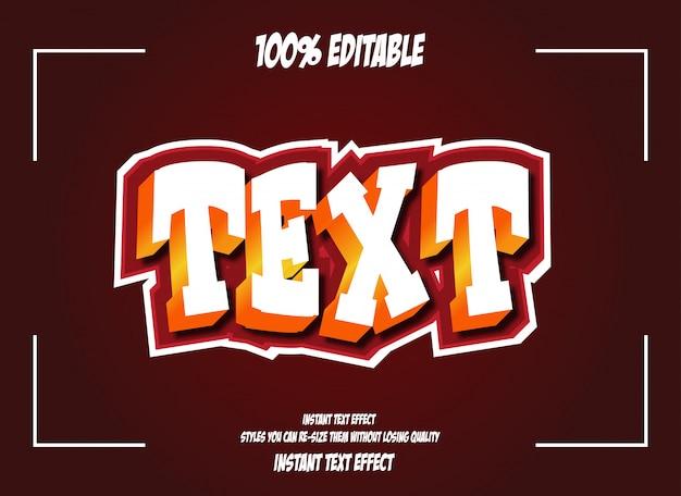 Texteffekt für kühlen futuristischen effekt, bearbeitbaren text