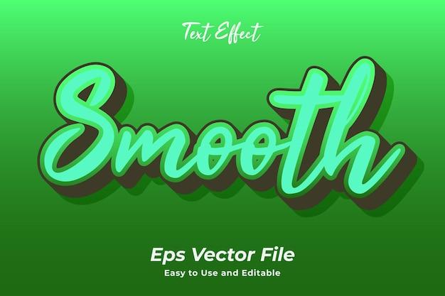 Texteffekt glatt bearbeitbar und einfach zu bedienen premium-vektor